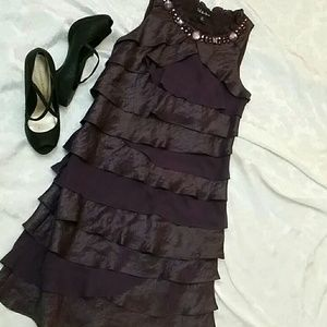 SL Fashions Dresses & Skirts - SALE♡SL Fashions plum sheathing dress NWOT size 8p