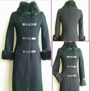 Mackage  Jackets & Blazers - Mackage Toscana & Leather Trimmed Wool Coat