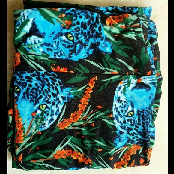 da3868de77a4bc LuLaRoe Pants | Salenew Tc Leggings Blue Cheetah Leopard | Poshmark