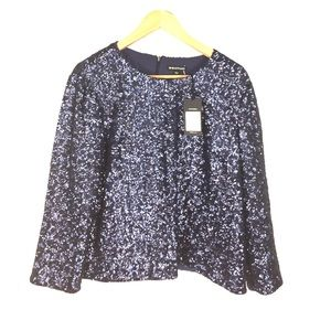 Whistles Tops - Whistles Sequin Top, NWT, UK Company, Navy