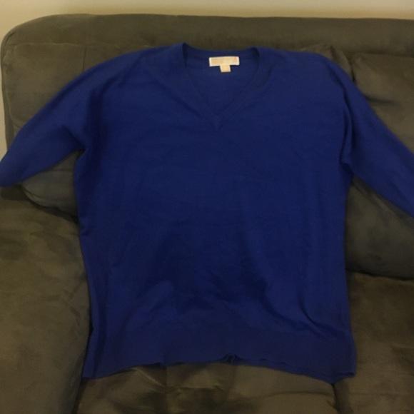 86% off Michael Kors Sweaters - Michael Kors Royal blue oversized ...