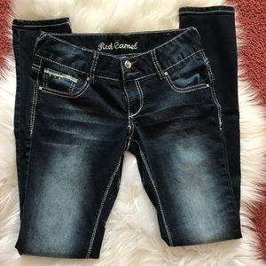 Red Camel Denim - Skinny denim jeans w/embellishments