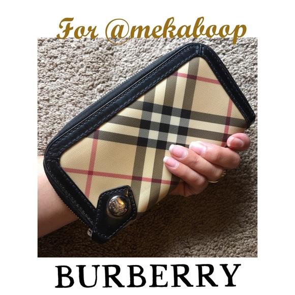 4be0062c1761 Burberry Handbags - Burberry Zip Around Full Size Wallet 🎀