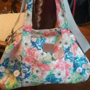 Victoria's Secret  Handbags - Victoria's Secret Pink Floral Duffle Bag