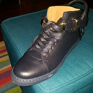 Buscemi Shoes - Buscemi Navy and gold sneakers