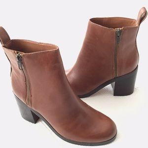 gap   zip heeled bootie.