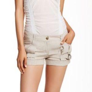 L.A.M.B. Pants - NWOT L.A.M.B. Tan Linen Stripes Shorts