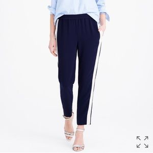  J.Crew Tuxedo Stripe Blue White Stripe Pants ☀️
