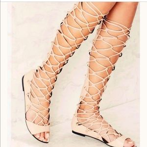 #nastygal nude gladiator shoes !