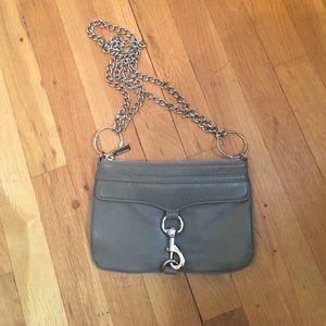 Rebecca Minkoff grey clutch