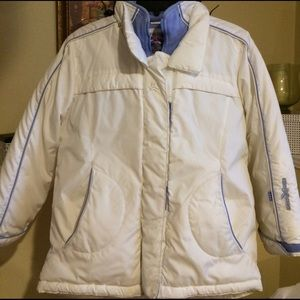 21men Jackets & Blazers - White and light blue juniors winter coat size L14