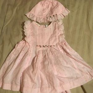 Clothing, Shoes & Accessories Janie & Jack 18-24m Riviera Beach Palm Trees Salmon Pink Crochet Petticoat Skirt
