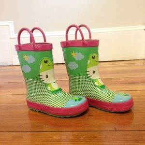 Western Chief Other - Hello Kitty Rain Boots Pink Green Froggy Gingham