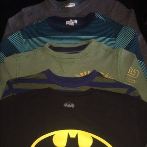 Lot of 5 BOYS Long Sleeve Shirts Sz 10/12