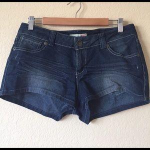 Paris Blues Pants - Paris Blues Distressed Short Shorts