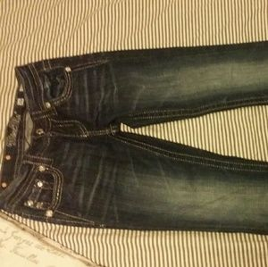 Miss me dark boot cut jeans with pocket detail