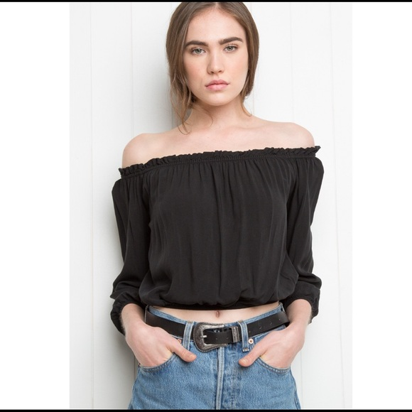 5b7ea9157709a Brandy Melville Tops - Brandy Melville Maura Off the Shoulder Top
