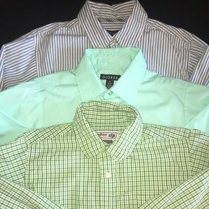 Boys BUTTON DOWN Shirts SZ 10/12