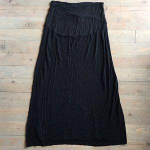 H&M Dresses & Skirts - H&M Mama Maternity Black Midi/Maxi Skirt