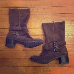 Kenneth Cole Reaction Shoes - Kenneth Cole Reaction suede heel boots
