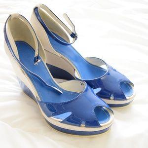 Hogan Shoes - Hogan Blue Wedges
