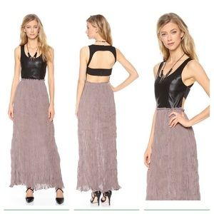 Blaque Label NWT pleated chiffon maxi size SM