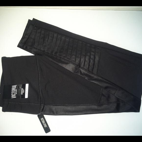 e08eec1c05407 Victoria's Secret Pants | Vs Knockout Black Moto Tight | Poshmark