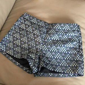 J Crew Blue Metallic Shorts