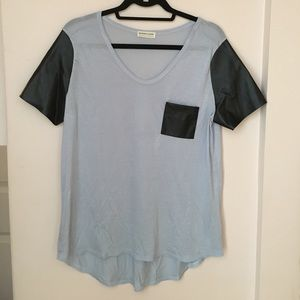 Necessary Clothing Tops - NWOT! Necessary Clothing Faux Leather Accent Top