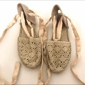 Replay Shoes - Replay tie up espadrilles Never been worn!!!