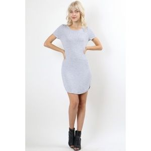 Heather Grey T Shirt Dress