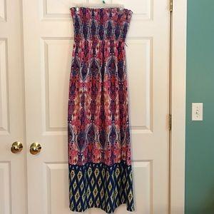 No Boundaries Dresses & Skirts - NO BOUNDARIES: multi colored maxi dress