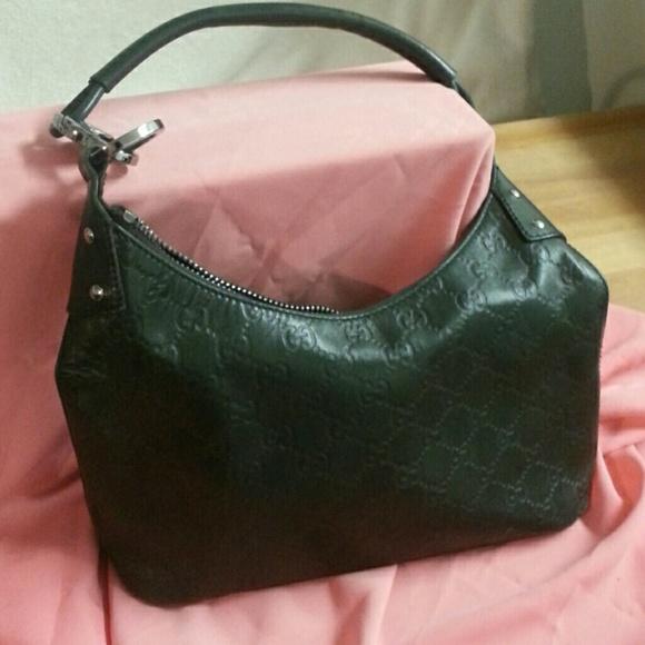 47031b3d7cda Gucci Handbags - Gucci Dark Green Guccissima Leather Hobo Purse