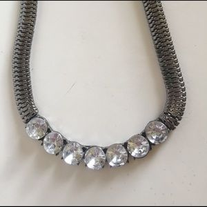 Jewelry - Blingy Gunmetal Necklace - price lowered!