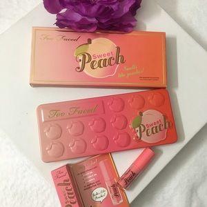 Too Faced Other - ✨💯Peach palette & pure peach mini Gloss BNIB ✨💯