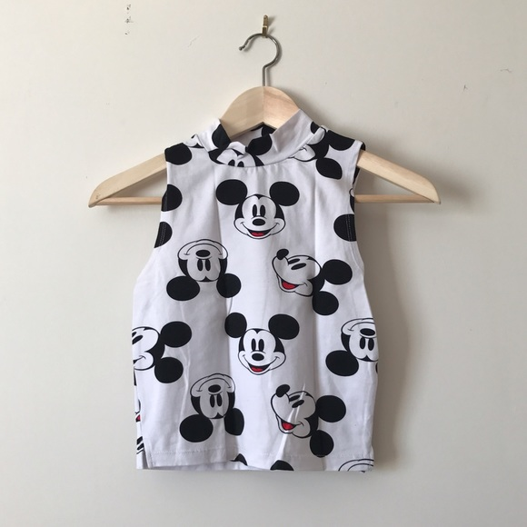 cb96ce9b081c6 Forever 21 Tops - Mickey Mouse Turtle Neck Crop Top