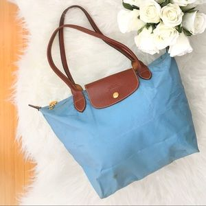 Longchamp Le Pliage Light Blue Nylon Tote