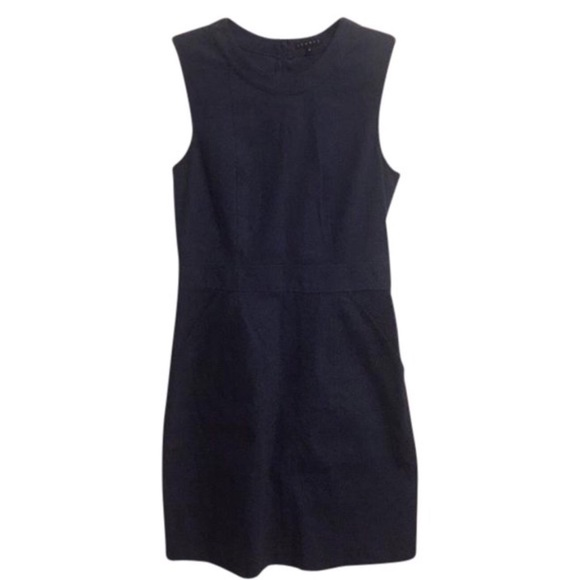 edc7c09a717 Theory Dresses | Navy Blue Dress Sz 6 | Poshmark