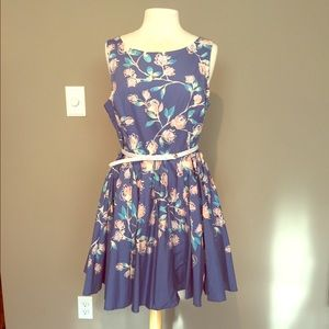 LC Beautiful Blue Magnolia Dress