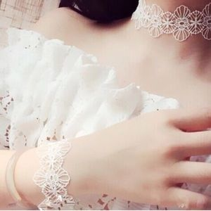 For Love and Lemons Accessories - Lace choker and bracelet