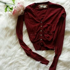 Abercrombie & Fitch Tops - Abercrombie & Fitch Maroon  Cardigan