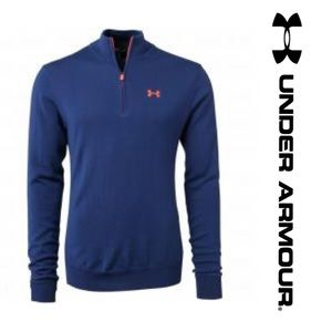 Under Armour Other - •NWT• UA Golf 2016 wool blue 1/4 zip pullover