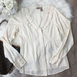 Daytrip Tops - Daytrip Large Ivory Long Sleeve Top