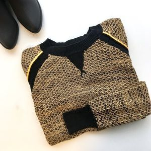 Rebecca Minkoff Crewneck Raglan Knit Sweater