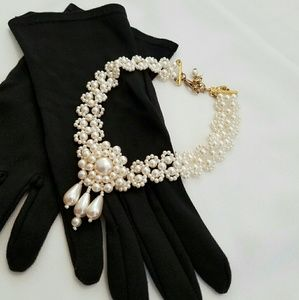 Jewelry - Antique | Vintage | Faux Pearl Choker Necklace