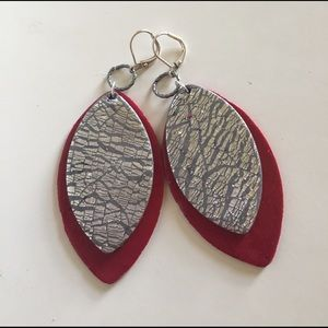 Jewelry - Red and Silver Earrings