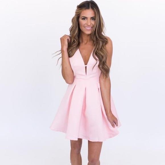 26fa32cbb867 Boutique Dresses | Nwt Blush Pink Fit Flare Dress | Poshmark