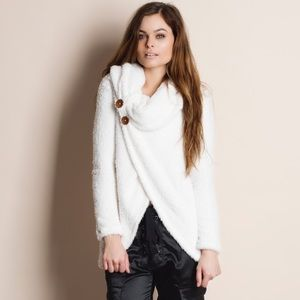 Super Soft Fuzzy Cowl Neck Sweater Top