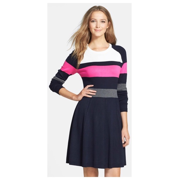 3d747d605c3 Eliza J Dresses   Skirts - Eliza J Colorblock Fit   Flare Sweater Dress