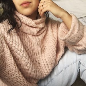 leith Sweaters - LEITH/ blush pink knit